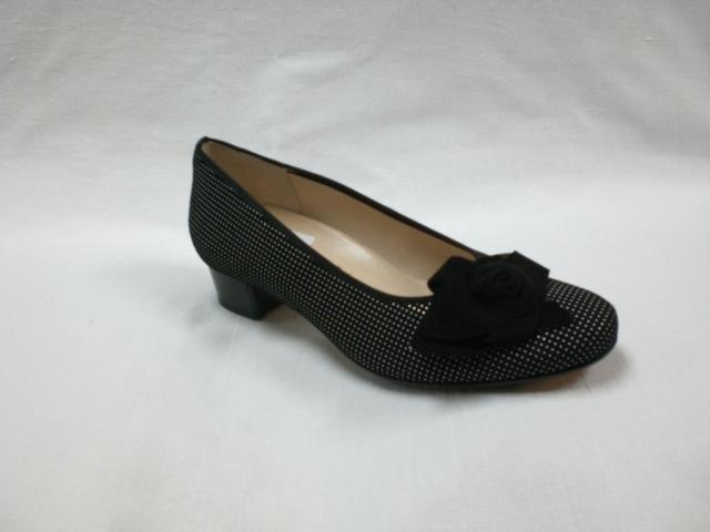 sale retailer 276d4 3e93b Ballerina schwarz/weiß, Elegant, extra weit - Schuh Raesfeld