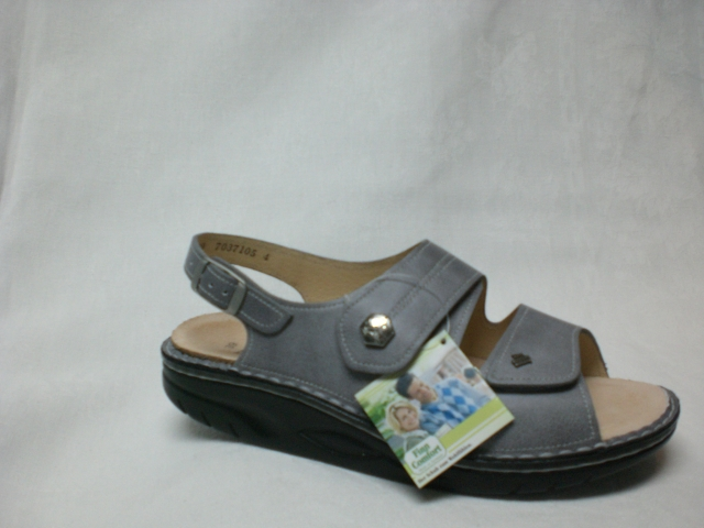sandale mit abrollsohle finnamic grau schuh raesfeld. Black Bedroom Furniture Sets. Home Design Ideas